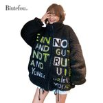 embroidery lambswool thick jackets