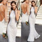 Backless Sleeveless Sling Cross V-Neck Long Dresses