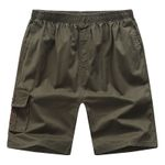 Letter YBL Shorts Cotton Cargo Shorts Homme Solid