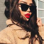 Square Cat Eye Sunglasses Fashion Brand Designer