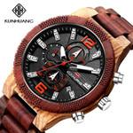 Handmade Wood Watch Multifunction Chronograph Military