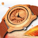 Casual Wood Watches Elk Deer Moose Design