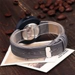 High-End Simple Watch Alloy Buckle Round Glass Wood Quartz