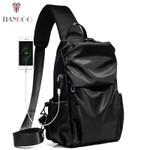 chest shoulder bag usb charging diagonal casual