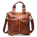 Casual Bags Genuine Leather Business Shoulder Messenger