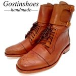 Handmade Short Brown Genuine Leather Work Boots