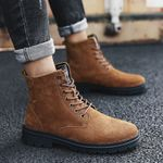 Martin Suede PU Leather Lace Up Work Ankle Boots