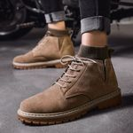 Fashion PU Leather Male Waterproof Shoes Casual Boots