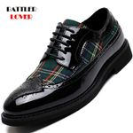 Leather Shoes Casual Lace Up Oxfords Dress Shoes