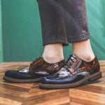 Newest Oxford Shoes Fashion Hollw Brogue Leather Formal