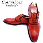 Oxfords Shoes Cow Leather Brown Color Pointed