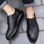 Brogues Shoes Lace-Up Bullock Business Wedding Dress