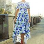 Fashion Casual Boho Print O-Neck Short Sleeve Dress