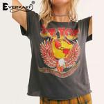 Boho Print ZZ Top T-shirts Retro Band Eagle Earth