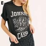 Boho Top T-shirts Fashion Pattern Print Johnny