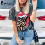 T-shirt Tops Boho Retro Print Tees Streetwear Ladies