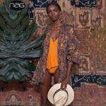 Chiffon Print Blouse Loose Beach Tops Batwing Sleeve