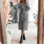 Knitted Sweater Dress Office Ladies Elgant Basic