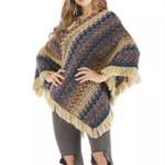 Boho Tassels Knitted Sweater Shawl Wraps