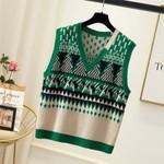 Coats Sleeveless Sweater Vest V-Neck Knit