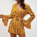 casual romper jumpsuit floral print beach romper