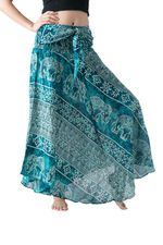 Fashion Flowers Skirt  Multicolor Long Hippie Skirt