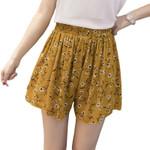 loose boho floral casual chiffon shorts plus size