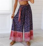 Boho Floral Baggy Loose Pants Hippie Wide Leg