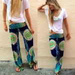 Boho Hippie Wide Leg Pants  Gypsy Bohemian