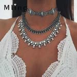 Necklace Bohemian Choker Statement Necklaces Metal