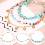 New Boho Bangle Bracelets Turquoises Beaded Geometric