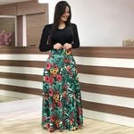 Casual Maxi Dress Bohemian Print Plus Size Boho