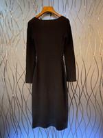 neckline decoration solid color slim long-sleeved dress