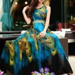 Lady Sleeveless Expansion Underdress Maxi Party Dress