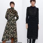 Fashion  Printng Maxi Dress Boho Casual Loose long Sleeve