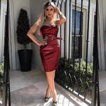 Elegant Off Shoulder Ladies Business Dress