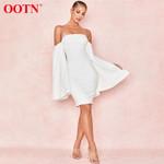 Sexy Cloak White Dress Shawl Sleeveless Off Shoulder