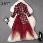 Fashion Runway Designer Dress Elegant OL Notched