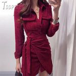 Bandage Temperament Slim Female Dresses