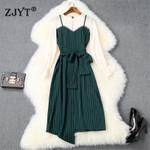 Elegant Lady Dress New Fashion Flare Sleeves