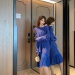 new condole fairy chiffon dress loose thin sweater dress