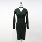 Sweater Knitted Dress V-neck Sexy Bodycon Dress