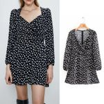 print black vestidos back zipper long sleeve mini dress