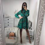 Fashion Leopard Print Party Dresses Elegant vintage