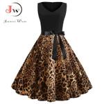 Sexy Party Leopard Print Sleeveless Dress