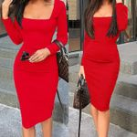 Elegant Dress Long Sleeve Bodycon Dress Ladies