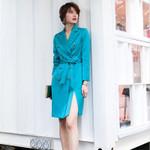 Office Lady Elegant  Femme blazer Dress