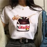 T Shirt Nutella tshirt Cartoon Print T-shirt Harajuku