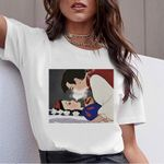 Tee Shirts Cartoon Print Kawaii Female T-shirts Tops