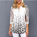 Shirt Blouse Female New Tops V-neck Half Sleeve